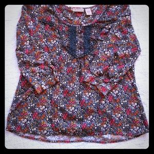 Art and Soul Boho Floral Casual Top M